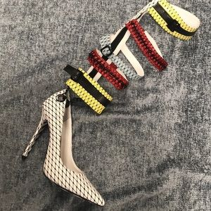 Shoes - Constricted Knee High Heel